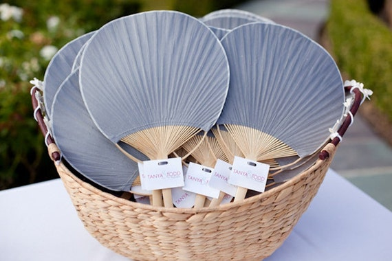 5 pack paper paddle fan summer wedding accessories wedding for Wedding paddle fans
