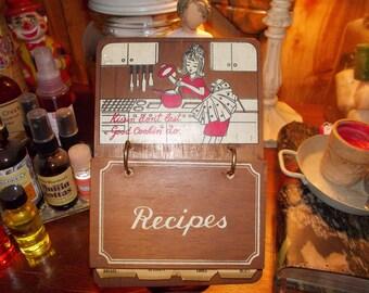 c-vintage recipe holder stand