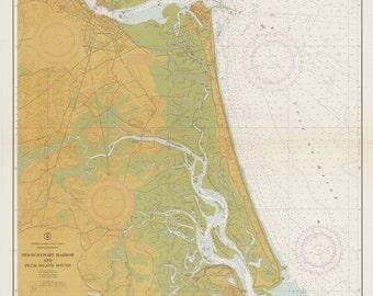 Newburyport Harbor and Plum Island Sound, 1965 Massachusetts - Nautical Map - Reprint Harbors 213