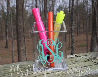 Personalized Acrylic Pen/Pencil Cup