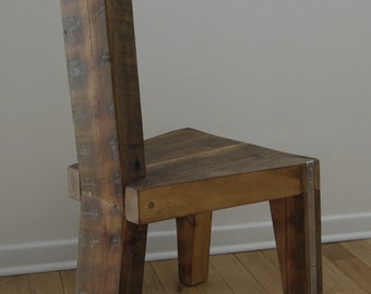 Reclaimed Wood Dining Chair. Handmade Dinning Chair. Unique Furniture