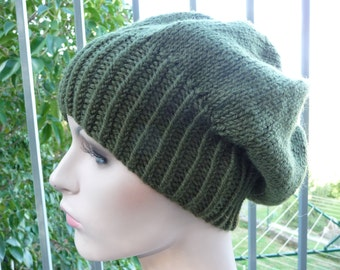 Military Green Slouche Hat  -  1309