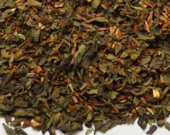 Organic  Fair Trade Tea -  Tulsi Mango Peach -  Loose Leaf  with Anti-Oxidants- 4 oz Light Tea