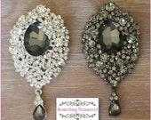 Large Crystal Rhinestone Brooch, Wedding Jewelry, Hooiday Wedding Brooch Pin Accessories Crystal Brooch Bouquet Wedding Sash - Queen Brooch