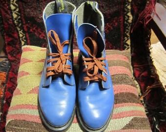 Vtg.Blue Doc Marten Boots Size 3Uk. US Size 5