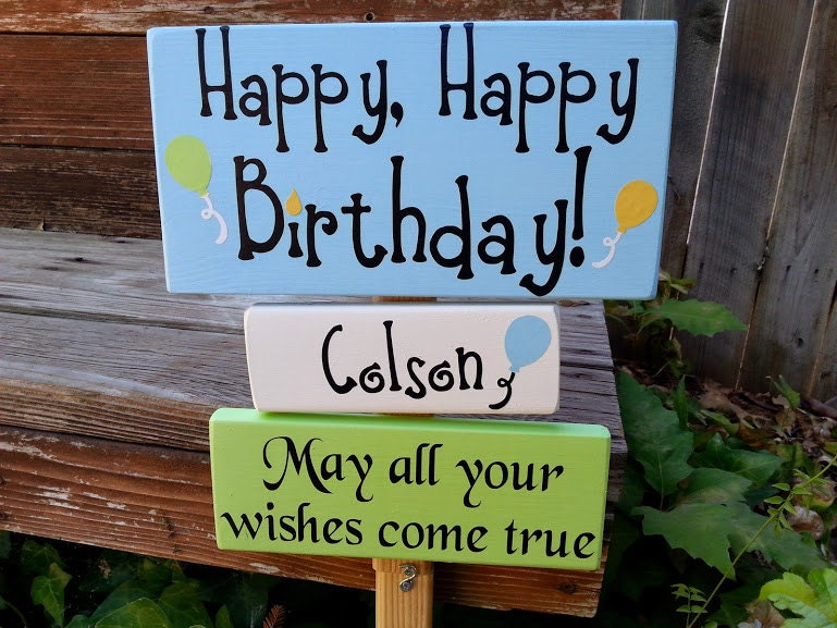 Happy birthday sign yard sign for Happy birthday yard letters