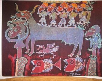 Large Javanese Batik Painting