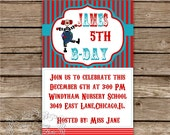 Circus Themed DIY Party Invitation.Birthday Invite.Printable Design. - InasPlacebyInaBela