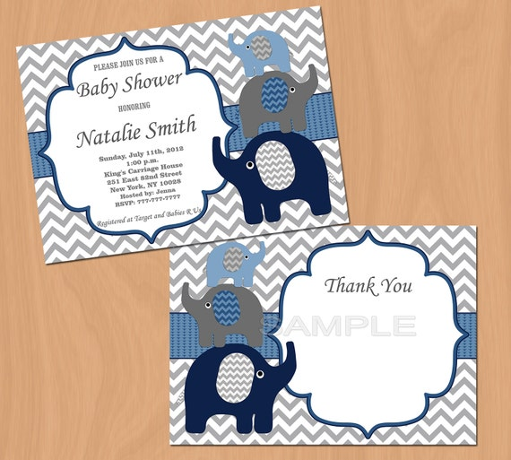 elephant baby shower invitation boy baby shower invitations printable