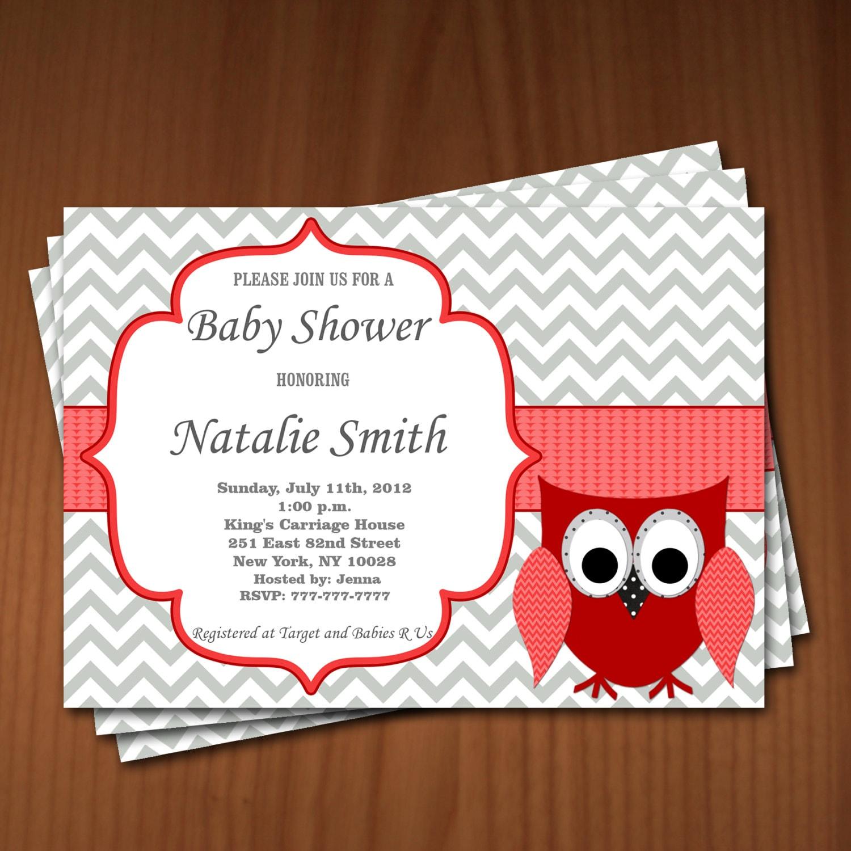 Owl Baby Shower Invitation Girl Baby Shower Invitations