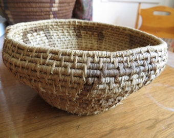 Antique Native American Papago Indian Basket Bowl