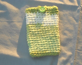 Cell Phone Case - Green and White