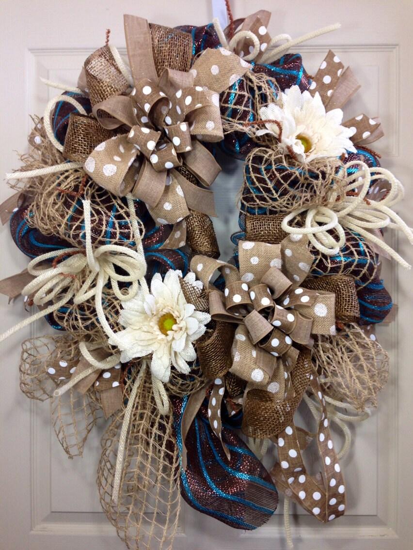 Spring Summer Mesh Wreath