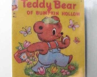 Children's Book Teddy Bear of Bumpkin Hollow - dollhouse miniature 1:12 scale