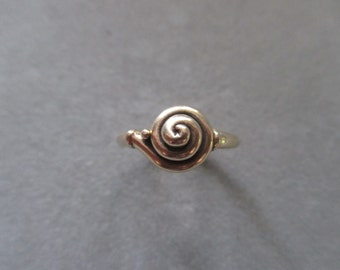 14Kt. Yellow Gold Spiral Ring #R01YG