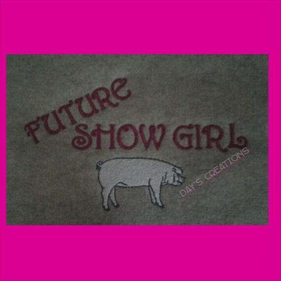 Youth Hoodie sweatshirt - Pig shower sweatshirt - Future Show Girl pig shower - Livestock pig shower - youth pig sweatshirt - custom sweater