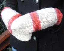 HAND KNITTED Shetland and Orkney Wool MITTENS (matching hat sold separately)