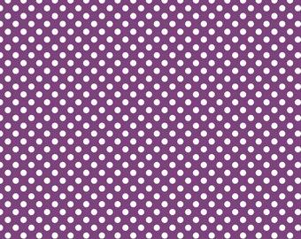 Purple Small Dots Fabric 1/2 Yard By Riley Blake Designs