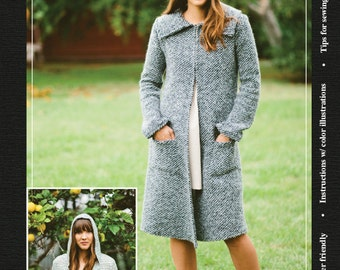 Lark Maxi Cardigan Coat Pattern by Jamie Christina