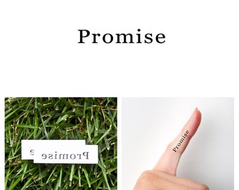 Quotes - Promise - Temporary Tattoo (Set of 2)
