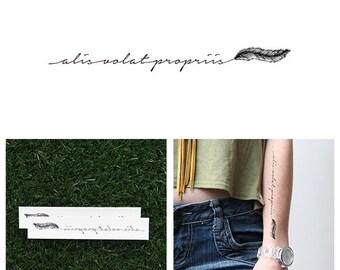 Alis Volat Propriis - Temporary Tattoo (Set of 2)
