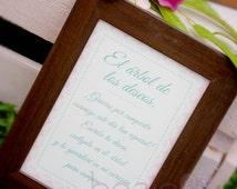 """Cartel y etiquetas SHABBY CHIC para el """"Arbol de los deseos""""..."""