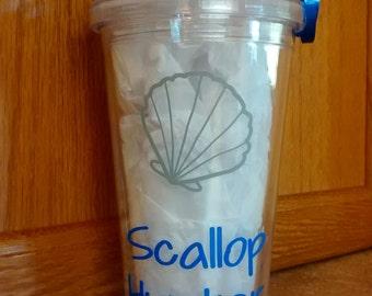 Scallop Hunter Tumbler // Personalized