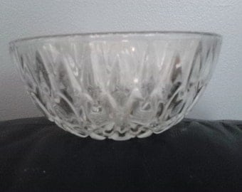 Vintage Pressed Glass Bowl KIG INDONESIA  Candy Dish Nut bowl