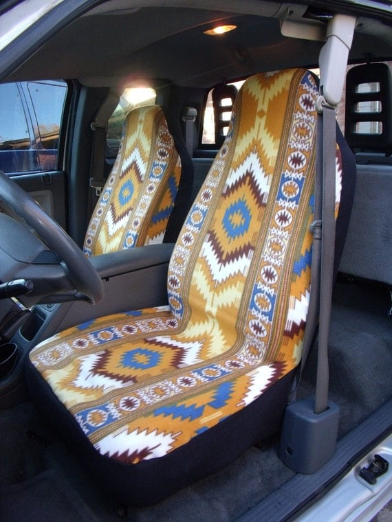 1 Set Of Tribal Diamond Stripe Print Car Seat Cover And