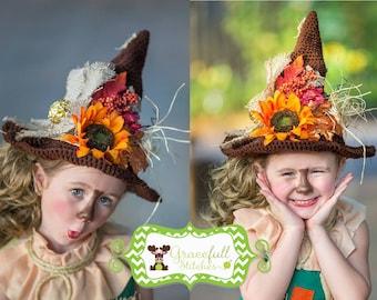 Scarecrow Crochet Hat Prop **** Scarecrow Hat *** Scarecrow