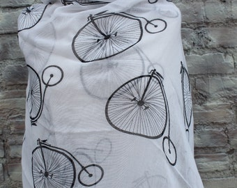 Bicycles print infinity  scarf   great accessory for your outfit
