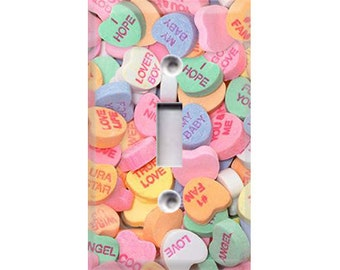 Conversation Hearts Light Switch Cover