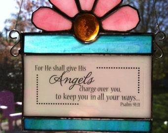 Religious quote suncatcher