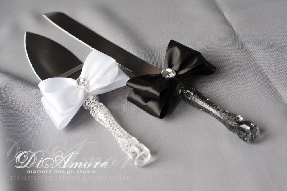 black wedding cake serving set black amp white cake server set for wedding lace cake by 11883
