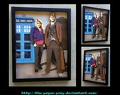 """11"""" x 14"""" 10th Doctor and Rose"""