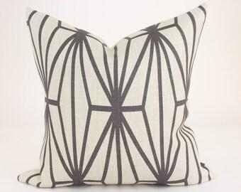 "Kelly Wearstler KATANA Designer Pillow Cover in Ivory & Ebony Lee Jofa Groundworks Lumbars and  18"", 20"", 22"", 24"" sq."