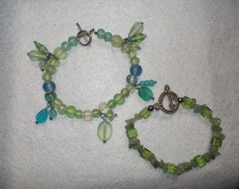 Green bracelet green and blue bracelet blue beaded bracelet green beaded glass beaded bracelets sea green sea blue bracelet glass aventurine