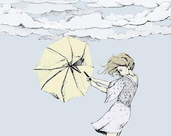 Goodbye Umbrella - Limited Edition Print