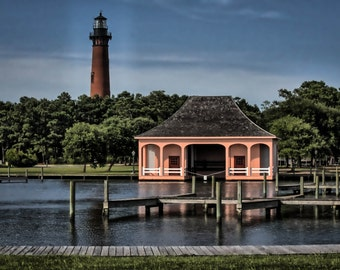 "Corolla Lighthouse - Outer Banks, NC - Whalehead Beach - 8x10"" print"