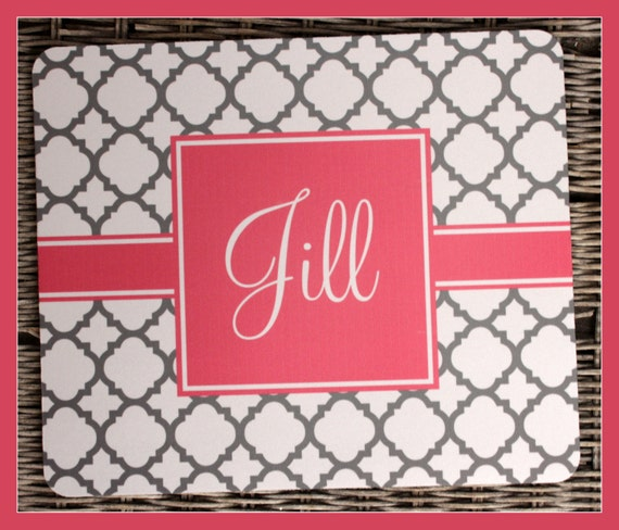 Mouse Pad Gift Ideas Personalized Mouse Pad Personalized Mousepad Monogrammed Mouse Pad Monogrammed Mousepad Custom Mouse Pad Custom