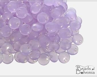 50 pc Lilac Opal Lentil Beads 6 mm (8555)