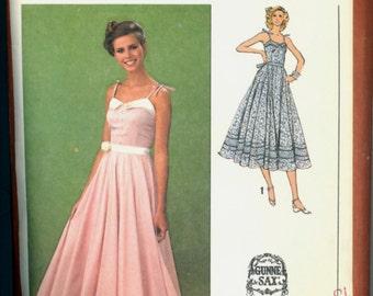 1970s Size 10 Bust 32 Jessica McClintock Gunne Sax Maxi Dress Simplicity 9008 Vintage Sewing Pattern 70s Long Sun