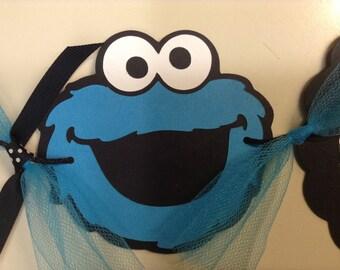 Sesame Street Cookie Monster Birthday Banner