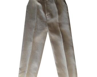 Boys linen pants, Beige Linen pants for boys, Linen pants