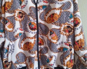 Erena by Irene Koening Print Long Sleeve Jacket 100% Polyester  Size Large