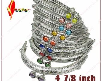 10pcs 10color 8.5cm 12.5cm   silver Metal sew purse frame KS-97