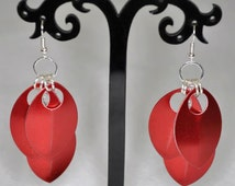 Gioelli Alluminio, Scale Maille Earrings, Unique Bridesmaid Jewellery, Gift For Mum From Daughter, Birthday Present For Her