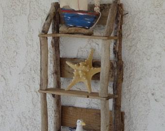 Driftwood Display Shelving - Driftwood Wall Art - Driftwood Decoration