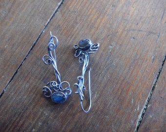Tempest Blue Labradorite Long Earrings