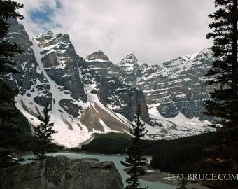 Print, Mountain Landscape, Moraine Lake, Banff National Park, Alberta Canada 2013
